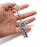 다채로운 키 모양 exorcism 세인트 베네딕트 키 체인 매력 반지 보석 종교 신사 선물