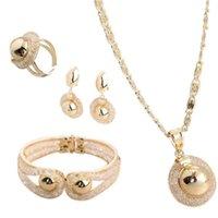 Earrings & Necklace Mesh Rhinestone Bracelet Stud Open Ring Bridal Jewelry Set Full Satisfaction Store Industrial Decoration 2021