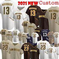 13 Manny Machado Baseball-Trikots 23 Fernando Tatis Jr. Jersey Tatís Tony Gwynn Wil Myers Eric Hosmer Mens Frauen 2021 Günstige Verkäufe 66