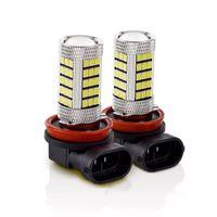 자동차 헤드 라이트 2PCS H11 H8 66 SMD LED 화이트 2835 CANBUS 오류 무료 안개 전구 6000K