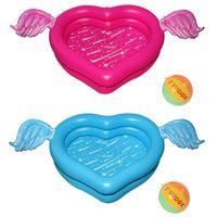 Надувной бассейн влюбленное крыло крыло высокого качества открытый формы сердца для 2 взрослых детские поплавки трубы