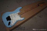 Stratocaster Custom Custom Body Fretboard Pentagram Double rouleau Floyd Rose Tremolo Guitare électrique @ 32