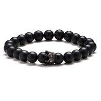 Klassische Mode Naturstein Tiger Eye Geometrische Krone Perlen Armband Multi Farbige Edelschmuck Geschenke Für Männer Dropship Perlen, Strang