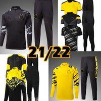 2021 2022 الفانيلة كرة القدم سستة التدريب دورتموند قمصان كرة القدم الرجال رياضية سترة Survetement 2021 Haaland Sancho Reyna Bellingham Jacksuits