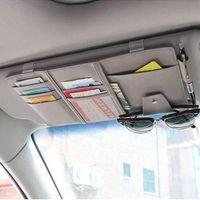 Storage Bags Car Supplies Sun Visor Clip Eye Hanging Bag Bill Shade Set Driver's License Card Pen Plug