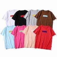 유명한 망 여름 티셔츠 클래식 인쇄 티스 스트리트웨어 패션 남자 여성 힙합 짧은 소매 커플 드레스 크기 S-3XL 브랜드 의류