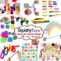 2021 Engraçado Espremo Squeeze Brinquedos Combinação Unzip Toy Solução Extrusivo Fidget Crianças Amazonas Vendendo Reducer Redutor Vários Estilos