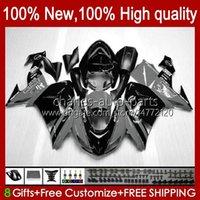 Bodywork pour Kawasaki Ninja ZX1000CC ZX 10R 10 R 1000 CC 2006 2007 Body 14NO.105 Black Grey 1000cc ZX1000C 2006-2007 ZX-10R ZX1000 ZX10R 06 07 Kit de carénage de la moto