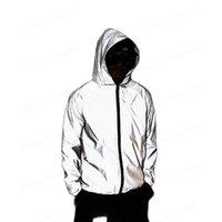 디자이너 망 재킷 긴 소매 까마귀 클래식 나이트 편지 반사 인쇄 코트 가을 겨울 재킷과 고품질 M-3XL