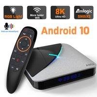 Android 10.0 Amlogic S905X3 TV BOX 4K 8K RGB Light 2.4G&5.8G WIFI Google BT4.1 16G 32G 64G 3D Youtube Very Fast Box Top Box