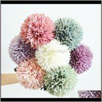 Dekoracyjne kwiaty wieńce świąteczne imprezowe dostawy ogrodowe Dostawa 2021 1 PC 11cm Dandelion Ball Symulacja droga cytowany sztuczny flower