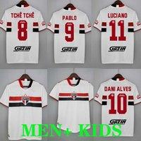 2021 Sao Paulo Soccer Jersey Dani Alves Football Hemden Kit 2022 Home White Frauen Luciano Igor Gomes Luan Pablo Reialdo Camisa 21/22 Maillo