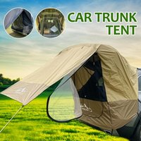 Tents And Shelters 3-layer Door Car Trunk Tent Sunshade Rainproof Tour Barbecue Outdoor Self-driving Camping Tail Extension