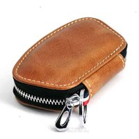 Key Wallets genuine Leather Women's Chain Multifunctional Case Collector organizer Support Smart