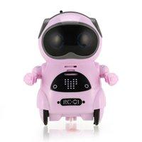 1PCS Mini robot de poche intelligent marche musique de danse jouet jouet léger reconnaissance vocale conversation répéter smart interactif enfants cadeau