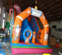 Commercial Grade Durable Inflatable Slide Land Double Play Outdoor Games & Activities