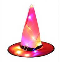 Fun Entertainment And Pastime Toys Halloween Gifts Ghost Festival Party Decoration Props LED Glowing Witch Hat