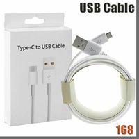 168D 휴대 전화 케이블 1m 3FT USB 유형 C 마이크로 V8 케이블 삼성 갤럭시 S 7 8 9 10 참고 소매 상자가있는 안드로이드 폰