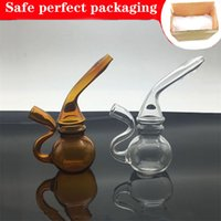 9cm Mini travel glass Dab Rig Bongs Hookahs Inline Perc Water Pipes Small cigarette filter blunt pipe