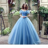 2021 New Sky Blue Cinderella Quinceanera Dresses Ball Gowns With Organza Ruffles Beading Sweet 15 Dresses Prom Quinceanera Gowns Stock 2-16