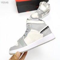 2021 1 1 S Bebek Sneakers OG Reçel Çocuk Basketbol Ayakkabıları Jumpman Bred Yasak Toddlers Bebek Eğitmenler Çocuklar Erkek Kız Çocuk Sneaker 24-35