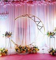 Оформление партии Луна Свадебная арка фон Стенд металлический Железо Архоз-декор Цветы Crescent Фон