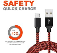 Micro USB cables Nylon Braided Android charging is compatible with Samsung and other models of fast thickened fabric cable