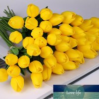 10 pz tulipano fiore artificiale Latex Real Touch Bridal Bouquet da sposa Bouquet Home Decor Decorare fiori artificiali Bouquet Real Touch Factory Factory Price Design esperto