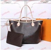 2021 Frauen Luxurys Designer Taschen Frauen Crossbody Bag Echte Handtaschen Geldbörsen Lady Tote Münze Geldbörse 2 stücke M40156AA