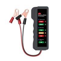 Leitores de Código Verificar ferramentas Yawoa 12V Carro Battery Tester Mate Alternador State Digital 6 LED luzes exibem ferramenta de diagnóstico e caminhão