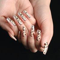 24 шт. / Коробка ABS Пресс на гвозди Гроб с клея средняя длина полная крышка балерина фальшивые ногти с дизайна маникюр ногтей студия