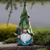 Solar Garden Résine Décoration Naughty Noël Gnome Dress Up Hogar Funny Statue G X9C7 Décorations