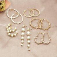 Boucles d'oreilles pour femmes perles boucles d'oreilles boucles d'oreilles pour femmes coeur cercle long cercle boucles d'oreilles bijoux de mode 2020 géométrique kolczyki oreiller36 q2