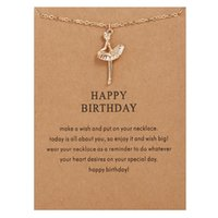 Ожерелья танцуют золотой положенный с днем рождения балет девушка сплав ключицы кости подвеска короткий колье