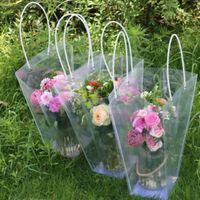 Trapézoïdal wraps transparent sac de cadeau de stockage plastique sac à main sacs de fleurs PVC Shop Forfait Fête Fête Fête Fleurs Sacs à main