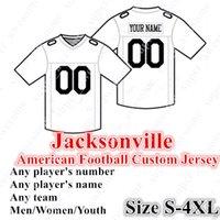 4XL Personnalisé Jacksonville Football Jersey 15 Minschew II 7 Follois 27 Fournette 17 Chark Jr. 18 Conley 12 Westbrook 93 Campbell 44 Jack 41 Allen