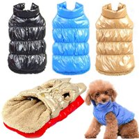 Dog Apparel Winter Pet Clothes Thick Fleece Waterproof Vest Down Jacket Puppy Small Dogs Warm Chihuahua Supplie