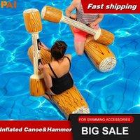 4pcs / Set Piscine Float Jeu gonflable Sports nautiques Pars Jouets pour adultes pour enfants Gladiator Gladiator Raftabling Haut-page Accessoires jouets