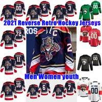 플로리다 팬더 2021 Reverse Retro Hockey Jerseys 8 Jayce Hawryluk Mike Hoffman Dryden Hunt Denis Malgin Colton Sceviour 사용자 정의 스티치