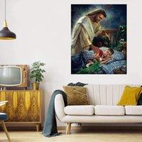 Gesù Night Watch Enorme pittura ad olio su tela Home Decor Handcrafts / HD Print Wall Art Immagini La personalizzazione è accettabile 21061336