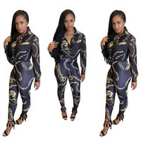 Ethnic Clothing Two Piece Set Africa Clothes African Dashiki Fashion Flowers Print Suit Top Trousers Super Elastic Party For Women Outfits