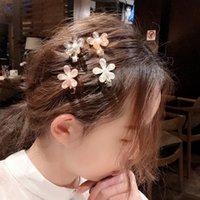 Korea Crystal Flower Pearl Hair Clip for Girls Women Geometric Duckbill Barrette Hairpin Hair Accessories Jewelry Gift 2916 Q2