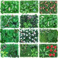 Decorative Flowers & Wreaths Artificial Flower Green Plant Wall Background Clmibing Lawn Room Grass Door Decoration El Wedding Home Decor Si