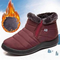 Women Boots Waterproof Ankle Low Heels Winter For Quilted Shoes Warm Snow Botas Mujer Bottines 210910