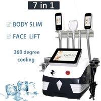 Cryolipolisis Máquina de emagrecimento Ultrasonic Cavitação Cryo Lipólise 360 graus de arrefecimento Equipamento Slim Perda de peso Laser Lipo