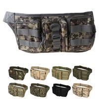 Män Utomhus Utility Tactical Zipper Waist Pack Pouch Militär Camping Vandring Bag Belt Bags Oxford Fabric Travel Tool Waist Bag 211013