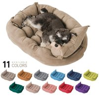 Kennels & Pens Super Soft Sofa Dog Beds Winter Warm Pet Puppy Cotton Kennel Mat Washable Baskets Products For Small Medium Large