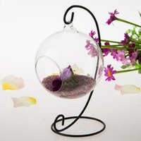Fashion Metal Stand Air Plant Terrarium Planter Hanging Display Rack Wholesale For Home Decoration Vases