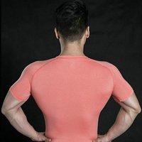 344 Männer Frühling Sporting Top Trikots T Shirts Sommer Kurzarm Fitness T-Shirt Baumwolle Herren Kleidung Sport T-Shirt