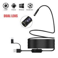 Kameras in 1 8mm USB C Dual Linse Industrial Endoskop HD Hard Kabeltyp Inspektion Kamera Boreskop für Android PC Smartphone Autos IP